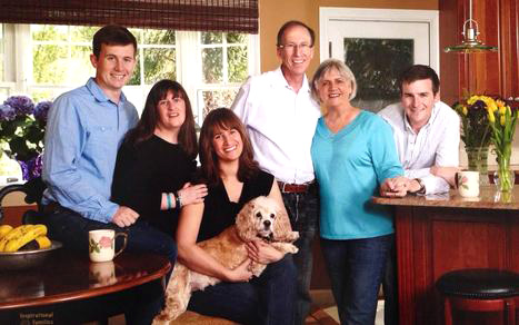 photo of Denise Garlick with her family