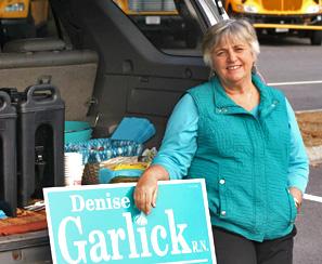 photo of Denise Garlick fundraising