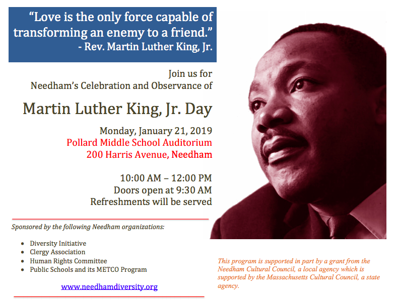 Needham S Celebration And Observance Of Martin Luther King Jr Day